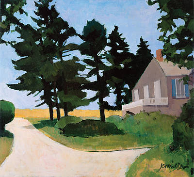 Scottish Artist Charles JAMIESON - Trees Monhegan
