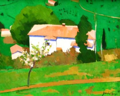 Scottish Artist Charles JAMIESON - White House, Cortona