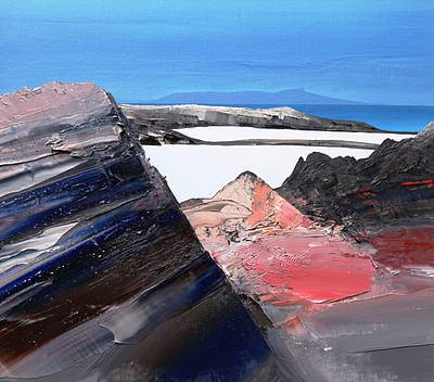 Scottish Artist Chris BUSHE - Inviting Beach, Distant Rum