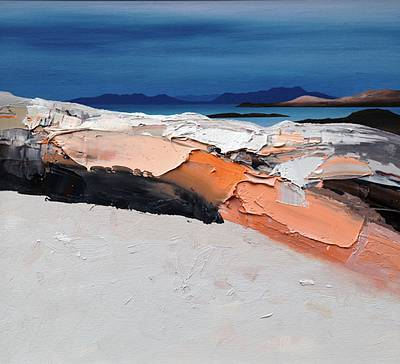 Scottish Artist Chris BUSHE - Pink Rocks - White Sands, Torastan Beach