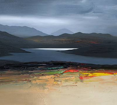 Scottish Artist Chris BUSHE - Autumn Sun, North Harris