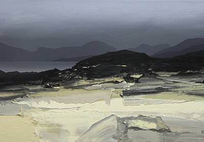 Scottish Artist Chris BUSHE - Beach Walk - Autumn Evening, South Harris