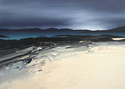 Scottish Artist Chris BUSHE - Pink Sands - Black Rocks, Balnahard Bay