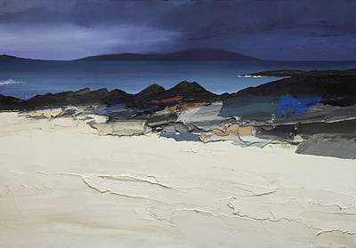Scottish Artist Chris BUSHE - Approaching Rain, Sound of Taransay