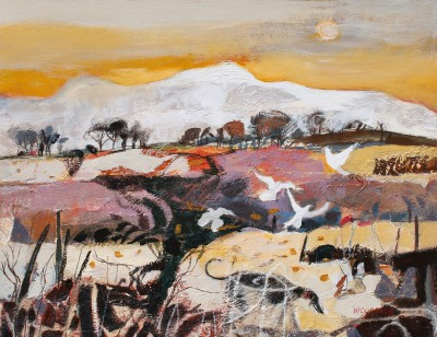 Scottish Artist Christine WOODSIDE - Autumn Walk