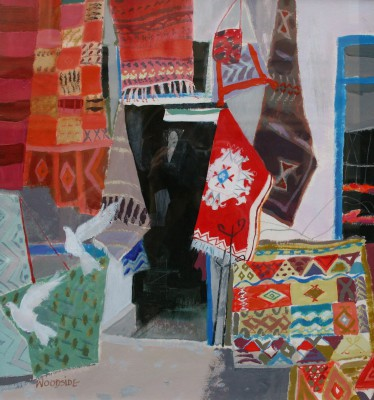 Scottish Artist Christine WOODSIDE - Carpet Stall