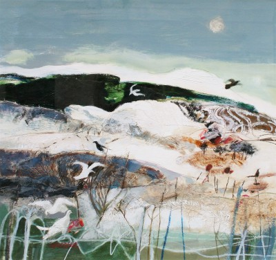 Scottish Artist Christine WOODSIDE - Flight to Newburgh