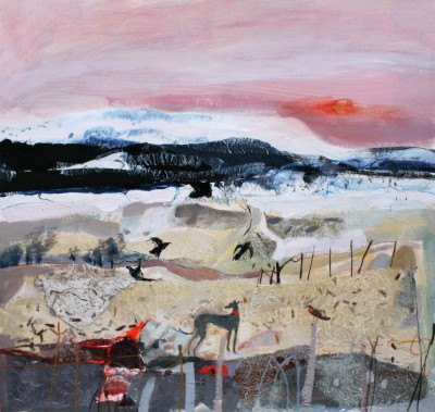 Melting Snow February painting by artist Christine WOODSIDE