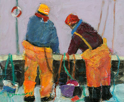 Scottish Artist Connie SIMMERS - Bringing in the Lines