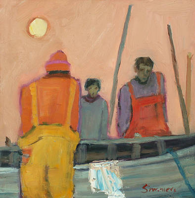 Scottish Artist Connie SIMMERS - Boatyard