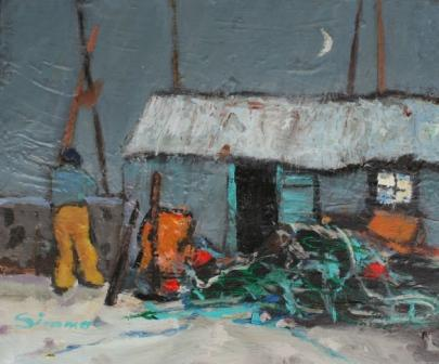 Scottish Artist Connie SIMMERS - The Waning Moon