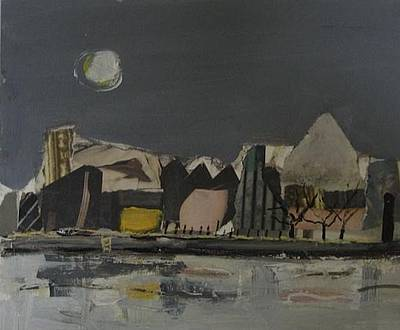 Scottish Artist Connie SIMMERS - Warehouses on the Clyde