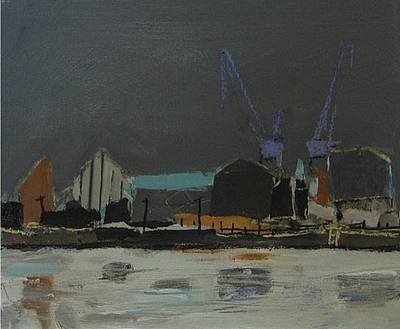 Scottish Artist Connie SIMMERS - Shipyards