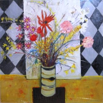 David M MARTIN - Flowers in a Ceramic Vase
