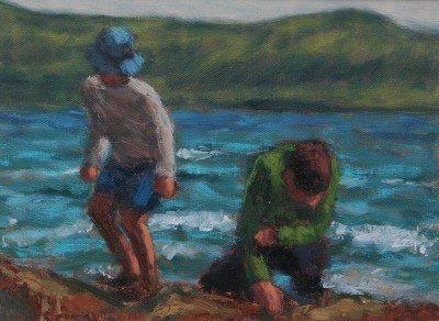 Scottish Artist Damian CALLAN - Rock Pooling
