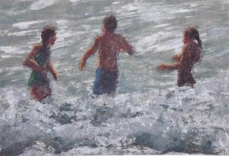 Scottish Artist Damian CALLAN - Harris Waves