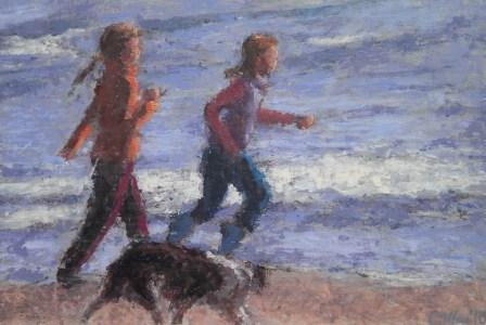 Damian CALLAN - Two Girls and a Dog