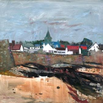 Scottish Artist David M MARTIN - Anstruther from the Shore