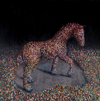 Scottish Artist David SCHOFIELD - The Race