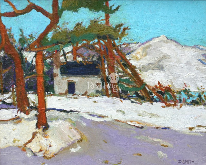 David SMITH - Winter Bothy and Pines