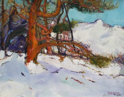 Scottish Artist David SMITH - Scots Pines, Glenmore