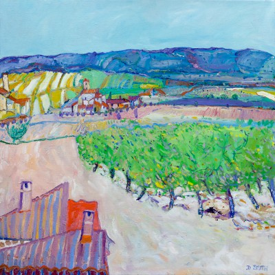 Scottish Artist David SMITH - Vineyards, Lezignan