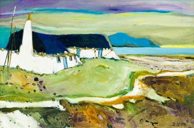 Scottish Artist David SMITH - Back Houses Berneray