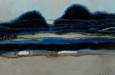 Scottish Artist David SMITH - Blue Hills of Jura