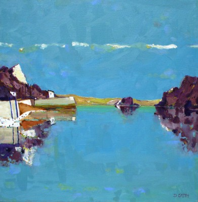 Scottish Artist David SMITH - Calm Seas Hebrides