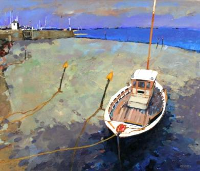 Scottish Artist David SMITH - Bowling Harbour on The Clyde