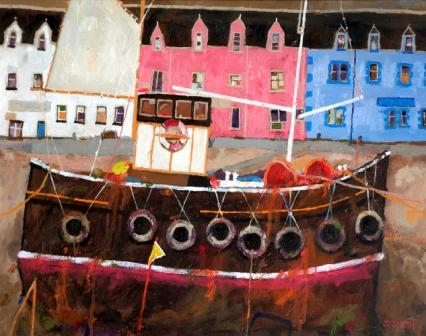 Scottish Artist David SMITH - Portree Harbour