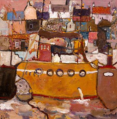 Scottish Artist David SMITH - East Neuk Harbour