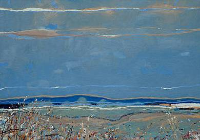 Scottish Artist David SMITH - Flowing Tide and Machair, Harris