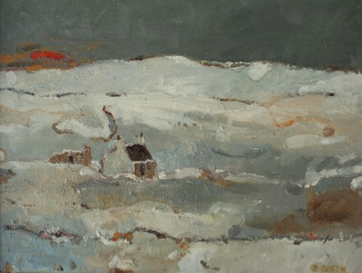 Scottish Artist David SMITH - Bothy in Winter