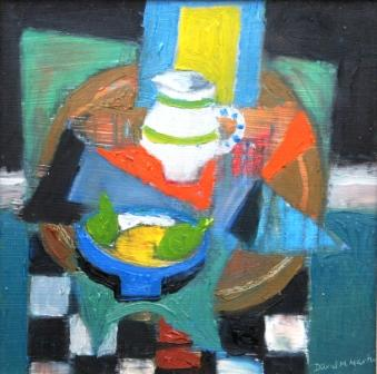 Scottish Artist David M MARTIN - The Jug and Fruit Bowl