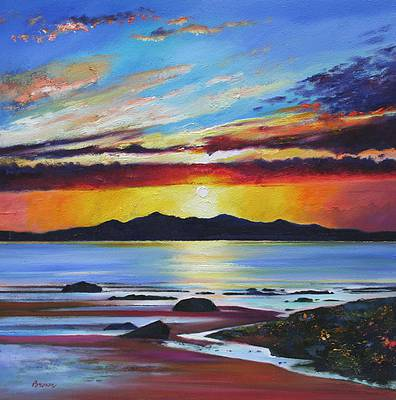 Davy BROWN - Sun Setting over Goat Fell