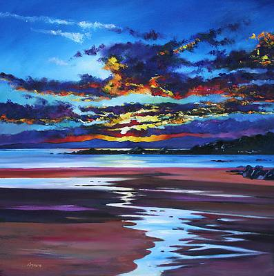 'Solway Sunset' painting by artist Davy BROWN