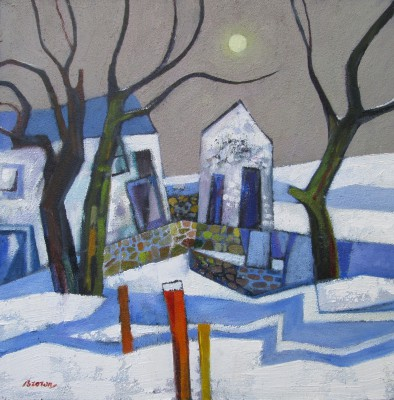 Scottish Artist Davy BROWN - Early Snowfall
