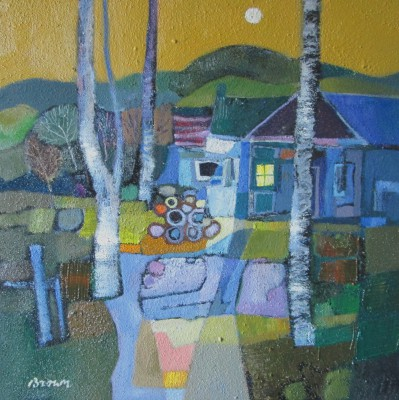 The Woodmans Cottage painting by artist Davy BROWN