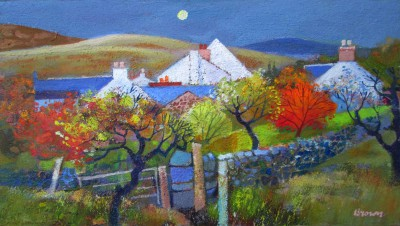 The Village Park painting by artist Davy BROWN