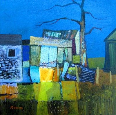 Scottish Artist Davy BROWN - Farm Sheds