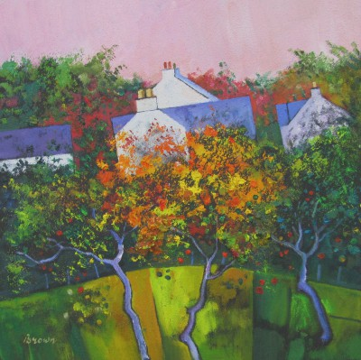 Scottish Artist Davy BROWN - Autumn Orchard