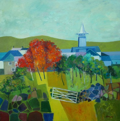 Scottish Artist Davy BROWN - Distillery in Autumn