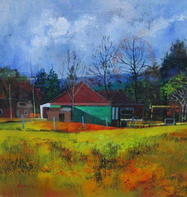 Scottish Artist Davy BROWN - Forestry Houses