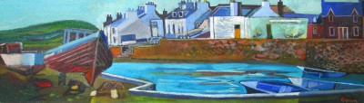 Scottish Artist Davy BROWN - Galloway Harbour