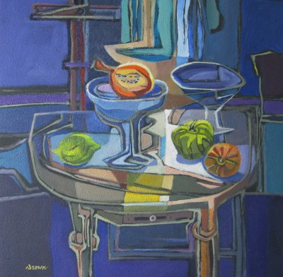 Scottish Artist Davy BROWN - Gourds on a Table