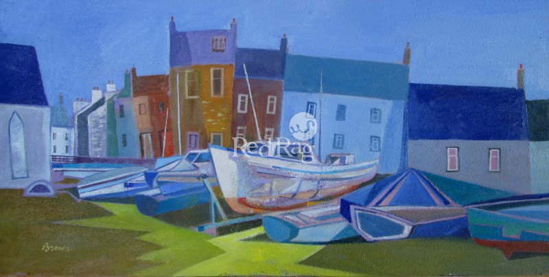 Davy BROWN - Beached Boats, Isle of Whithorn