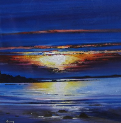 Scottish Artist Davy BROWN - Midsummer Sunset