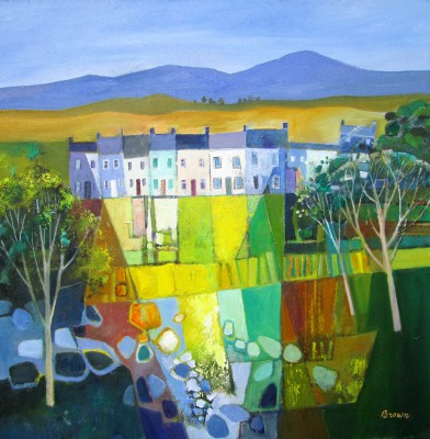 Scottish Artist Davy BROWN - Miners Houses