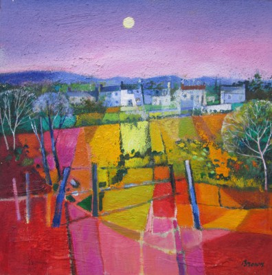 Scottish Artist Davy BROWN - Sleepy Village
